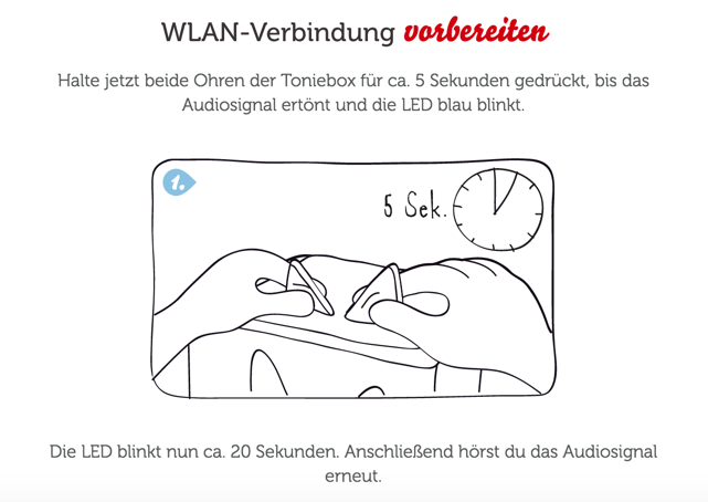 Toniebox-LED leuchtet nicht blau – tonies® Support