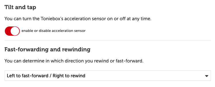 Fast-forward and rewind controls – tonies® Support